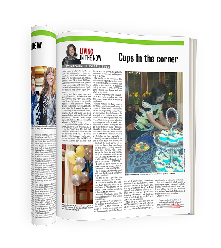 Suzanne's article on The Suburban Magazine April 17 2015